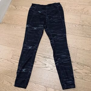Black/Grey Camo Workout Pants